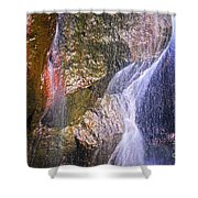 Rocks And Water Shower Curtain by Elena Elisseeva