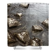 Rocky Shower Curtain by Margie Hurwich