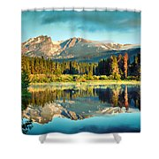 Rocky Mountain Morning Shower Curtain by Gregory Ballos