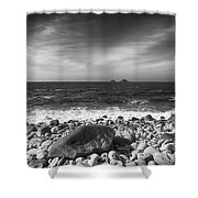 Rocky Shore Shower Curtain by Chris Thaxter