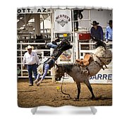 Rodeo High Flyer Shower Curtain by Jon Berghoff