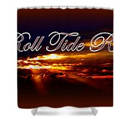 Roll Tide Roll w Red Border - Alabama Shower Curtain by Travis Truelove