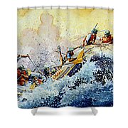 Rollin' Down The River Shower Curtain by Hanne Lore Koehler