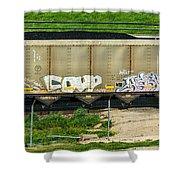 Rolling Art Shower Curtain by Steve Harrington