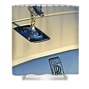 Rolls-royce Hood Ornament 3 Shower Curtain by Jill Reger