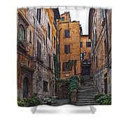 Roman Backyard Shower Curtain by Hanny Heim