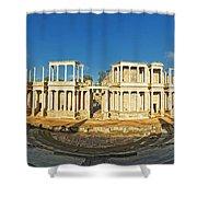 roman theatre in Merida Shower Curtain by Rudi Prott