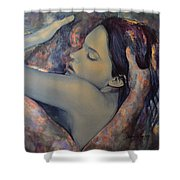 Romance With A Chimera Shower Curtain by Dorina  Costras