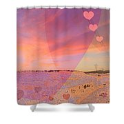 Romantic Sunset Shower Curtain by Augusta Stylianou