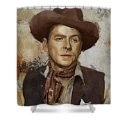 Ronald Reagan Portrait 4 Shower Curtain by Corporate Art Task Force