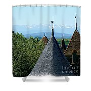Rooftops Of Carcassonne Shower Curtain by France  Art