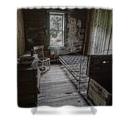 Room At The Wells Hotel - Montana Shower Curtain by Daniel Hagerman