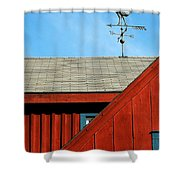 Rooster Weathervane Shower Curtain by Sabrina L Ryan
