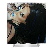 'rosa Azul' Shower Curtain by Christian Chapman Art