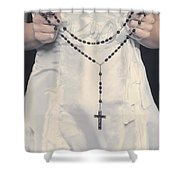 rosary Shower Curtain by Joana Kruse
