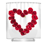 Rose Heart Shower Curtain by Elena Elisseeva