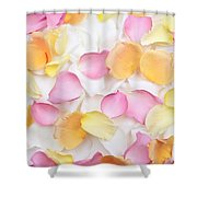 Rose Petals Background Shower Curtain by Elena Elisseeva