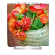 Roses Shower Curtain by Lisa  Phillips
