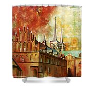 Roskilde Cathedral Shower Curtain by Catf
