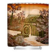 Ross's Watermill Shower Curtain by Barbara Griffin