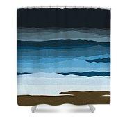 Rough Seas Shower Curtain by Val Arie