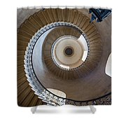 Round and Round Shower Curtain by Inge Johnsson