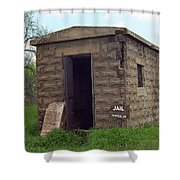Route 66 - Texola Jail Shower Curtain by Frank Romeo