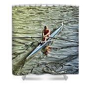Rowing Crew Shower Curtain by Bill Cannon