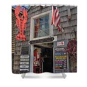 Roy Moore Lobster Company Shower Curtain by Joann Vitali