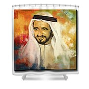Royal Collage Shower Curtain by Corporate Art Task Force