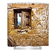 Ruined Wall Shower Curtain by Carlos Caetano