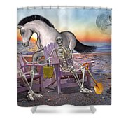 Run with Me Shower Curtain by Betsy C  Knapp