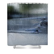 Running In The Rain Shower Curtain by Jack Zulli