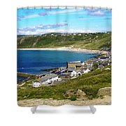 Running To The Beach Shower Curtain by Terri Waters