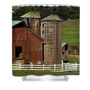 Rural Barn Shower Curtain by Bill Gallagher