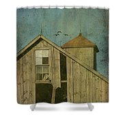 Rural Iowa Barn 5 Shower Curtain by Cassie Peters