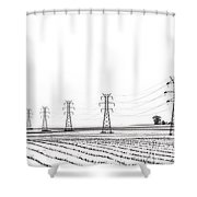 Rural Power Shower Curtain by Steve Gadomski