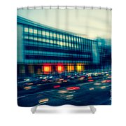 Rush Hour - Vintage Shower Curtain by Hannes Cmarits