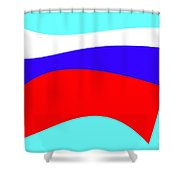 Russian Flag Shower Curtain by Lali Kacharava