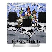 Russian Tooth Shower Curtain by Anthony Falbo