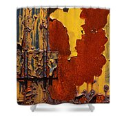 Rust Abstract Shower Curtain by Jack Zulli
