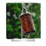 Rusted Old Cowbell Shower Curtain by Kaye Menner