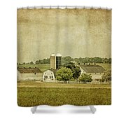 Rustic Farm - Barn Shower Curtain by Kim Hojnacki