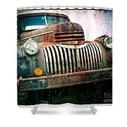 Rusty Old Chevy Pickup Shower Curtain by Edward Fielding