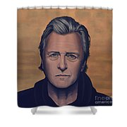 Rutger Hauer Shower Curtain by Paul Meijering