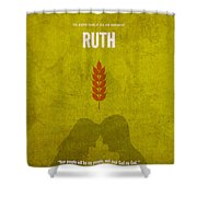 Ruth Books Of The Bible Series Old Testament Minimal Poster Art Number 8 Shower Curtain by Design Turnpike