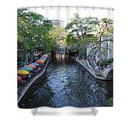 Sa River Walk 2  Shower Curtain by Shawn Marlow