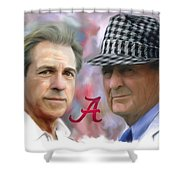 Saban And Bear Shower Curtain by Mark Spears