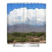 Sacramento Mountains Storm Clouds Shower Curtain by Jack Pumphrey