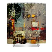 Sagittarius Star Shower Curtain by Corporate Art Task Force